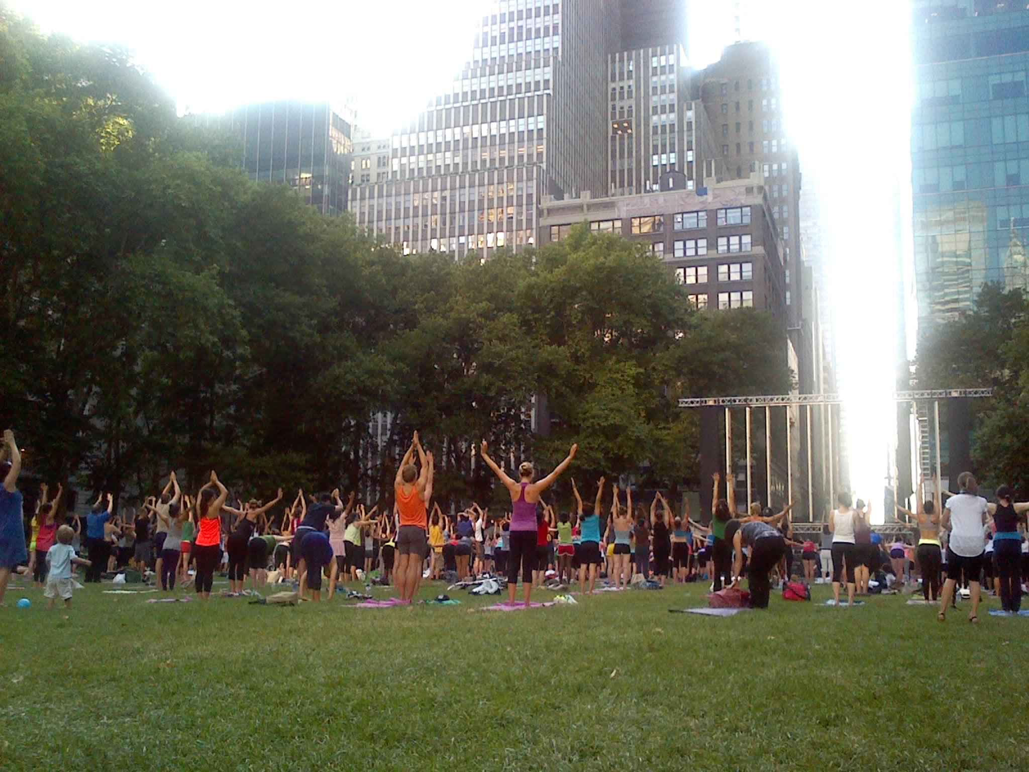 Yoga en Bryant Park