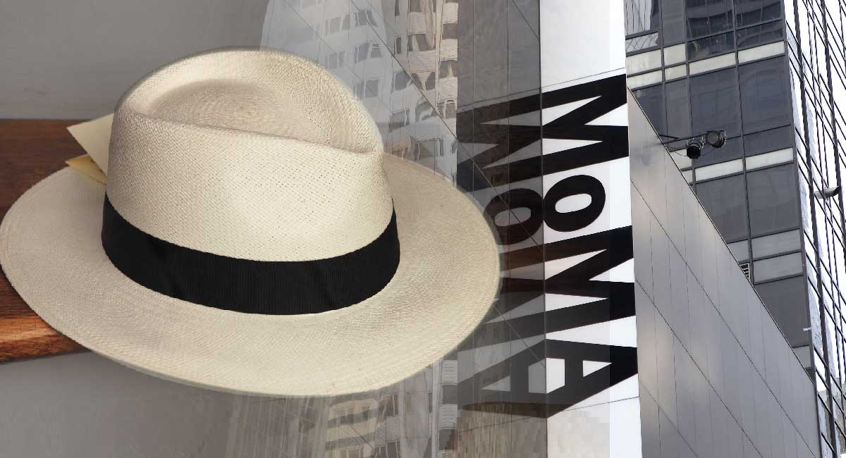 SOMBRERO DE PAJA TOQUILLA EN EL MUSEO DE ARTE MODERNO DE NEW YORK (MOMA)